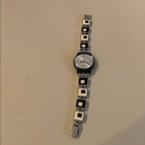 Swatch watch (black and white)